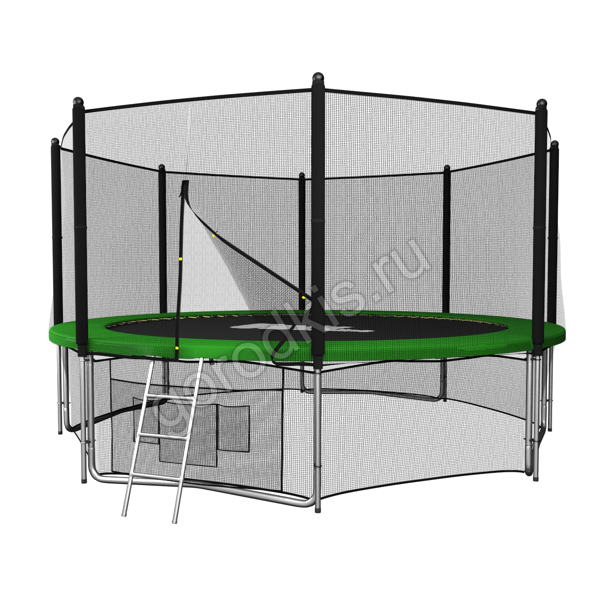 Батут с сеткой UNIX line 12ft outside (green)